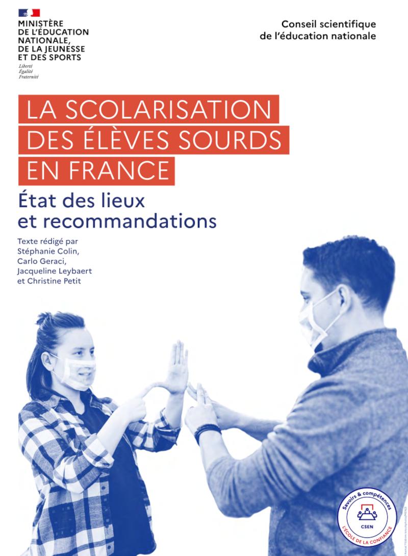 Rapport La scolarisation des élèves sourds en France