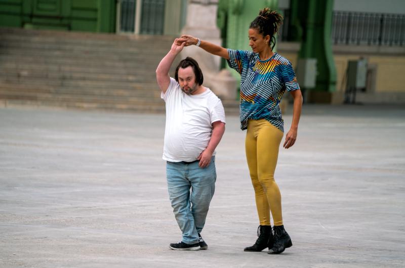 Répétition du spectacle La Ronde, conception Boris Charmatz - Nef du Grand Palais, 2020 ©Marc Domage pour la Rmn-Grand Palais, 2020