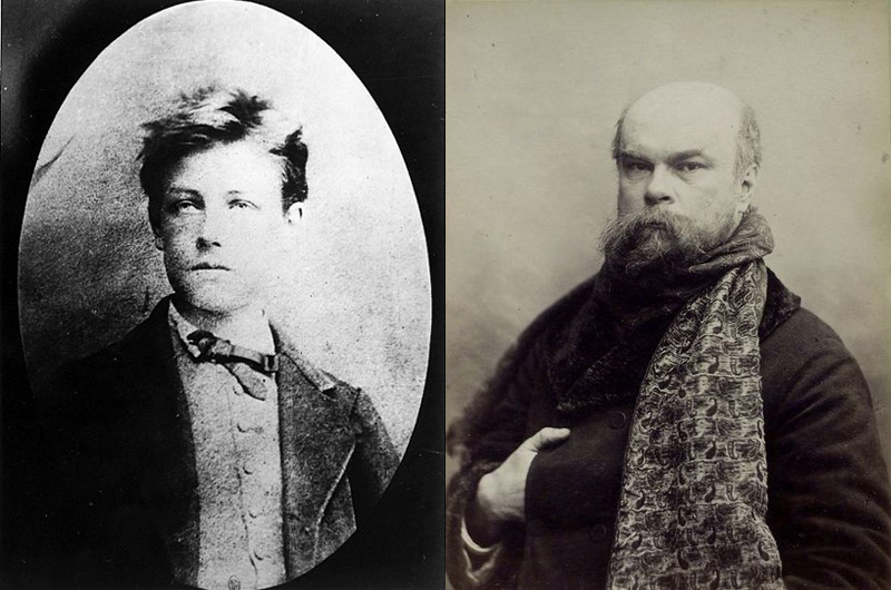 Arthur rimbaud et Paul Verlaine, photographies