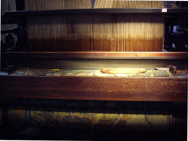 Musée du Jacquard à Roubaix, métier à tisser