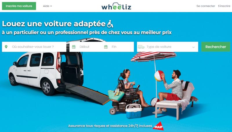 Site Internet de Wheeliz