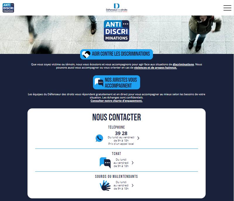 Site  antidiscriminations.fr