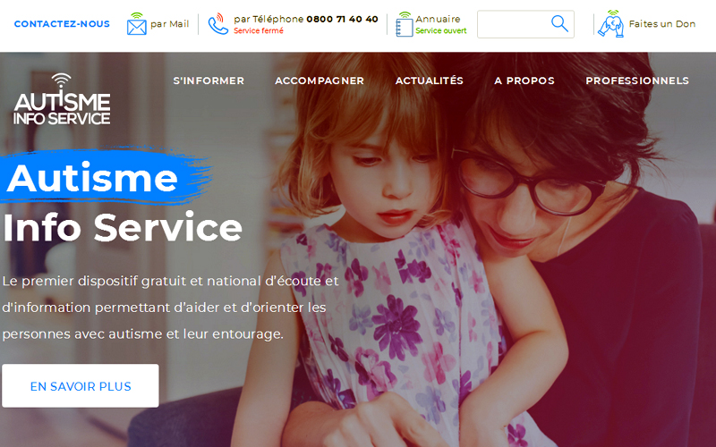 Site web d'Autisme Infos Service