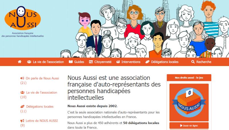 Site web de Nous Aussi