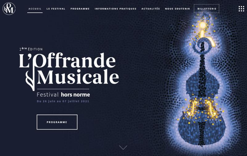 Site web de l'Offrande musicale