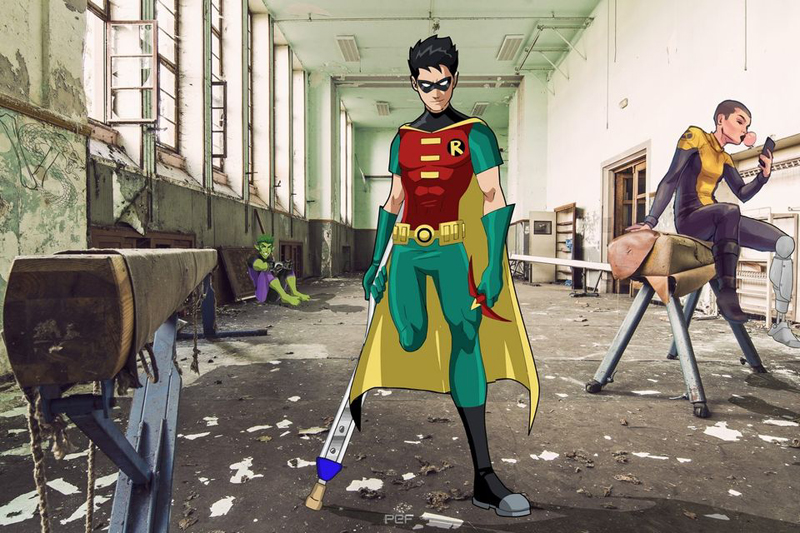 Super héros amputés ©Handi Smile