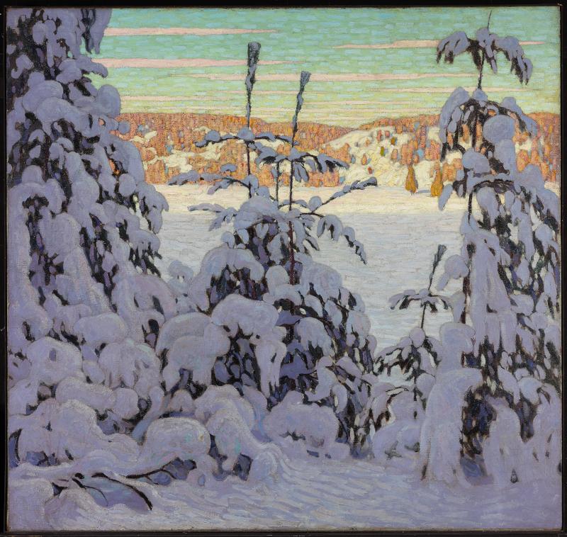 Tableau Neige 2, du peintre canadien Lawren S. Harris