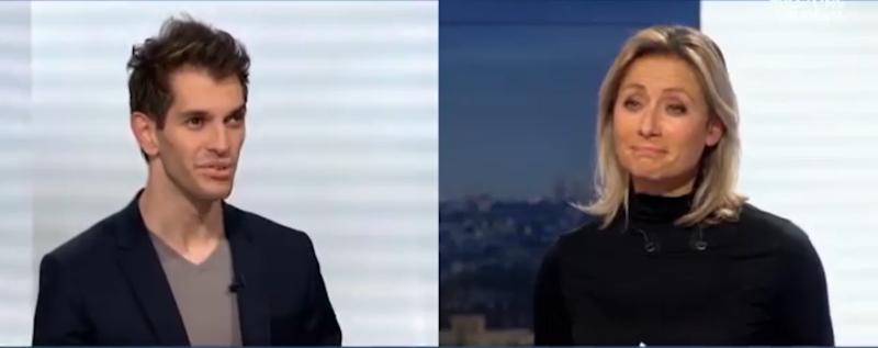 Tom Rousset en Duoday avec Anne-Sophie Lapix