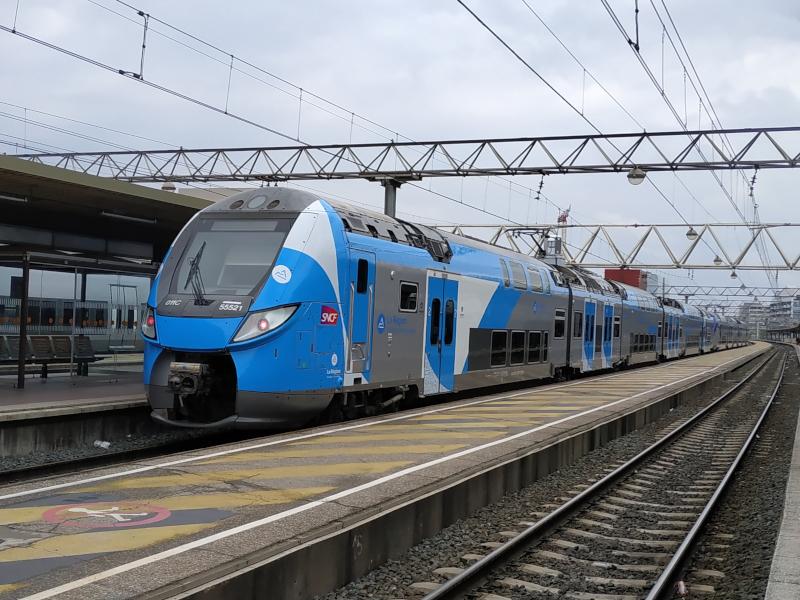 Un train TER Auvergne-Rhône-Alpes, en gare de Lyon-Part-Dieu ©Kevin.B
