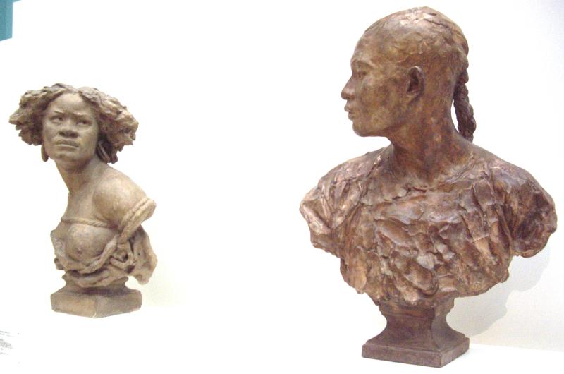 Musée des Beaux-Arts de Valenciennes - bustes de Jean-Baptiste Carpeaux, La négresse & Le Chinois