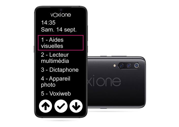 Smartphone VoxiOne de face et de dos