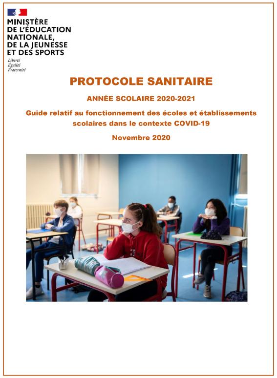 Protocole sanitaire Covid-19 de l'Éducation Nationale